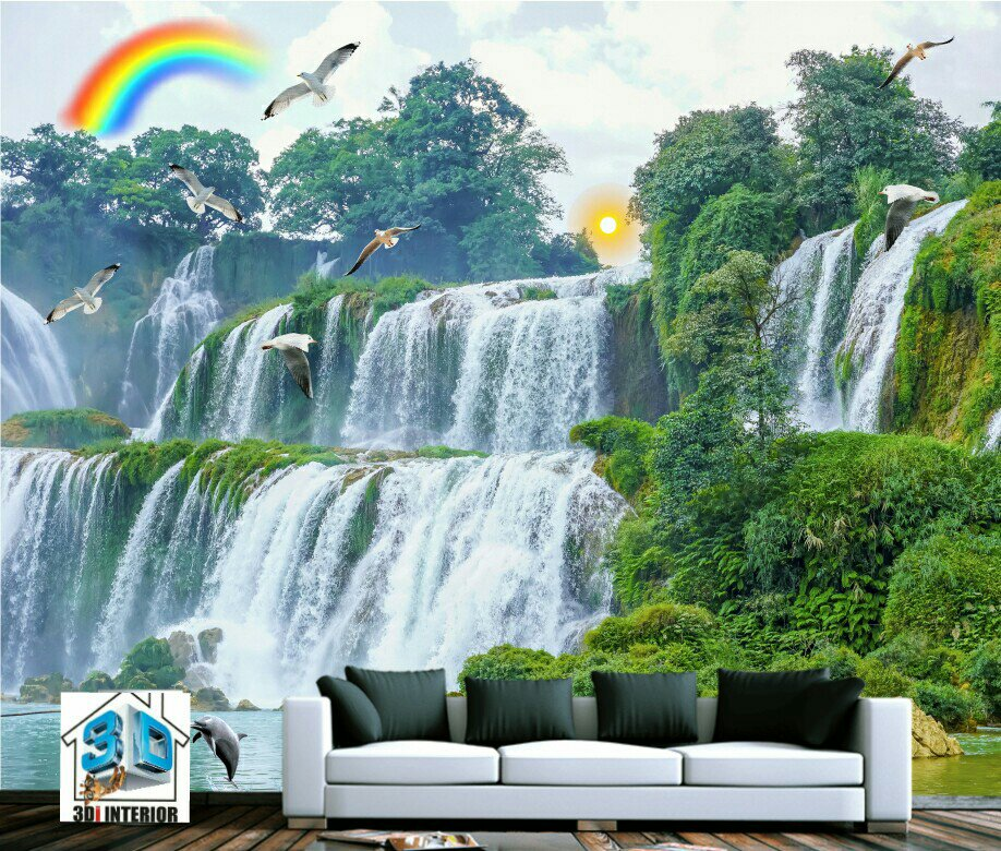 3D waterfall Wall mural